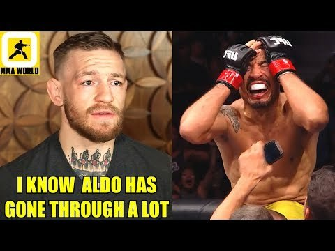 Conor Mcgregor reacts to Jose Aldo's victory and his emotional celebartion,Cody on TJ Dillashaw