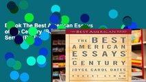 Ebook The Best American Essays of the Century (Best American Series (R)) Full