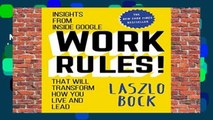 New Releases Work Rules!: Insights from Inside Google That Will Transform How You Live and Lead