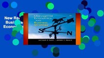 New Releases Managerial Economics   Business Strategy (McGraw-Hill Economics)  Review