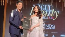 Jhanvi Kapoor gets her FIRST AWARD for Dhadak at Vogue Beauty Awards 2018   FilmiBeat