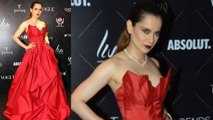 Kangana Ranaut ROCKS in Red Gown at Vogue Beauty Awards 2018 Red Carpet। FilmiBeat