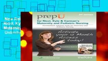 New Releases PrepU for Ricci, Kyle,   Carman s Maternity and Pediatric Nursing  Unlimited