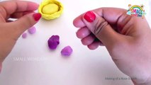 Making of Rose Bunch with Play Doh Clay | Learn Flower How to make Rose Flower