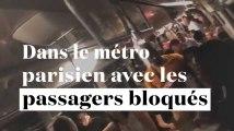 3 minutes avec les passagers de la ligne 1 bloqués, à Paris