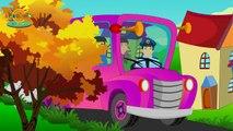 Wheels on the Bus Go Round and Round | English Nursery Rhyme with Lyrics