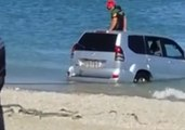 Submerged Jeep Pulled From the Sea at Spanish Holiday Resort