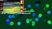 Digital book  Starting and Managing a Nonprofit Organization: A Legal Guide (Wiley Nonprofit