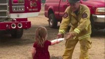 Little Girl Passes Out Burritos To Firefighters Battling The Carr Fire