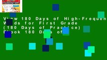 View 180 Days of High-Frequency Words for First Grade (180 Days of Practice) Ebook 180 Days of