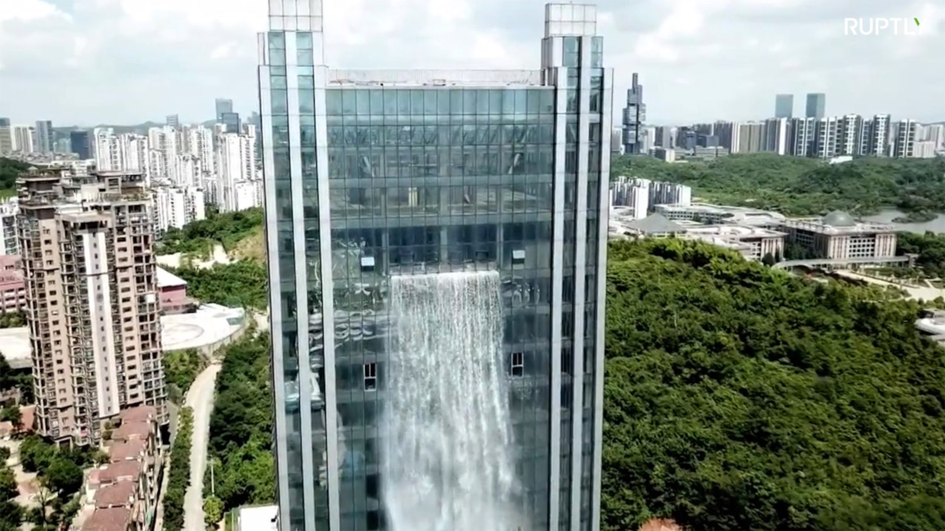China's eye-wateringly expensive artificial waterfall splits opinion