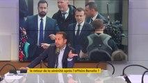 """L'affaire #Benalla a """"mis en lumière"""" le fait que le président de la République était """"garant d'un Etat de passe-droits"""" estime Sébastien Chenu, porte-parole du Rassemblement National, """"la République exemplaire de M. Macron, c'était du bidon"""""""