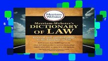 New Releases Merriam-Webster s Dictionary of Law  Unlimited