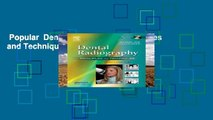 Popular  Dental Radiography: Principles and Techniques  Full