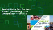 Reading Online Best Practices at Tier 1 [elementary]: Daily Differentiation for Effective