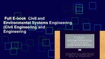 Full E-book  Civil and Environmental Systems Engineering (Civil Engineering and Engineering