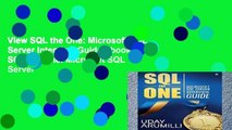 View SQL the One: Microsoft SQL Server Interview Guide Ebook SQL the One: Microsoft SQL Server