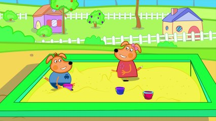 Puppy Cartoon Movies For Kids - Play Sand