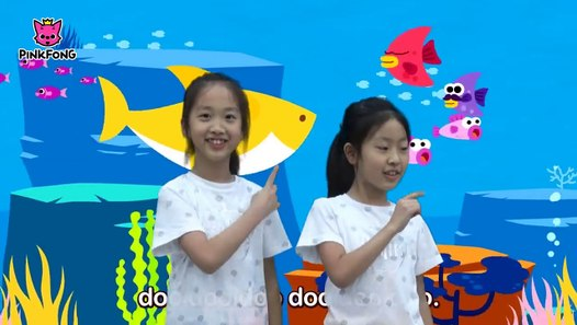 Cute Korean sisters doing the baby shark dance by Pink ...