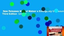 New Releases Ma and Mateer s Emergency Ultrasound, Third Edition  Unlimited