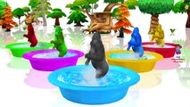 Funny Baby Play With Zoo Animals On The Playground Nursery Rhymes Songs Learn Animals for