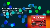 Best ebook  Florida Commercial Drivers License Permit Test: 108 Test Questions and Answers for