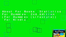 About For Books  Statistics For Dummies, 2nd Edition (For Dummies (Lifestyle))  For Kindle