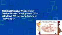 Readinging new Windows NT Device Driver Development (The Windows NT Network Architect   Developer