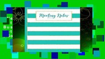 New Releases Meeting Notes - Turquoise: Business Professional Note-Taking Journal (Gold