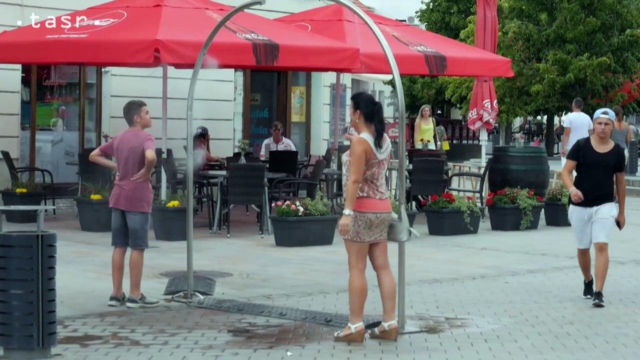 NITRA: Rozprašovače vody a fontány spríjemňujú horúce letné dni
