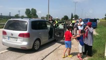 Gurbetçiler dönüş yolunda kaza yaptı: 2 yaralı - EDİRNE