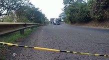 Nuestro aliados de Wow tv nos comparten imágenes de la escena de homicidio de motorista en carretera a Santa Ana.
