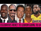 Celebrities React To Lebron James Signing With LA Lakers ( Kobe Bryant Reaction, Shaquille O'Neal)