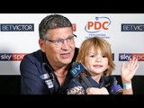 Gary Anderson joins the greats and says: 'Even if I never win another leg I can retire happy.'