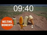 Timelapse video shows melting times of four different ice-creams in the sun