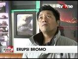Gunung Bromo Keluarkan Sinar Api dari Dalam Kawah