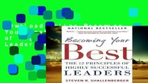 D0wnload Online Becoming Your Best: The 12 Principles of Highly Successful Leaders P-DF Reading
