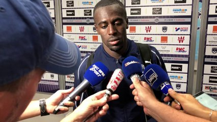 La réaction de Maxime Poundjé au terme du match face au FK Ventspils