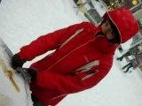 Tire d'érable sur la neige
