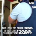 This little boy secretly rang 999 to invite the police to his birthday party... North Shore, Rodney & West Auckland Police
