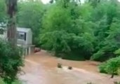 Severe Storm Brings Flash Flooding to Pittsboro, North Carolina