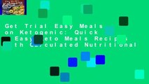 Get Trial Easy Meals on Ketogenic: Quick   Easy Keto Meals Recipes with Calculated Nutritional