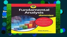 New Releases Fundamental Analysis FD 2e (For Dummies)  Unlimited