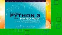 D O W N L O A D [P D F] Learn Python the Hard Way: A Very