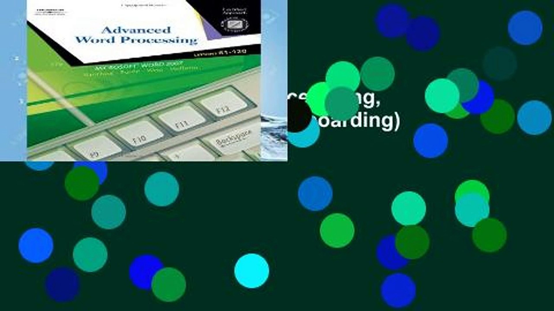 Ebook Advanced Word Processsing, Lessons 61-120 (College Keyboarding) Full