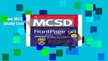 View MCSD FrontPage 98 Study Guide (Exam 70-55) online