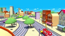 Troy the Train is the Crane Truck in Train Town of Car City | Trains & Trucks cartoons for