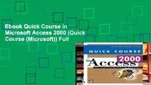 Ebook Quick Course in Microsoft Access 2000 (Quick Course (Microsoft)) Full
