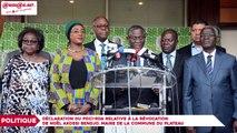Déclaration du PDCI RDA relative à la révocation de Noël Akossi Bendjo, maire du Plateau