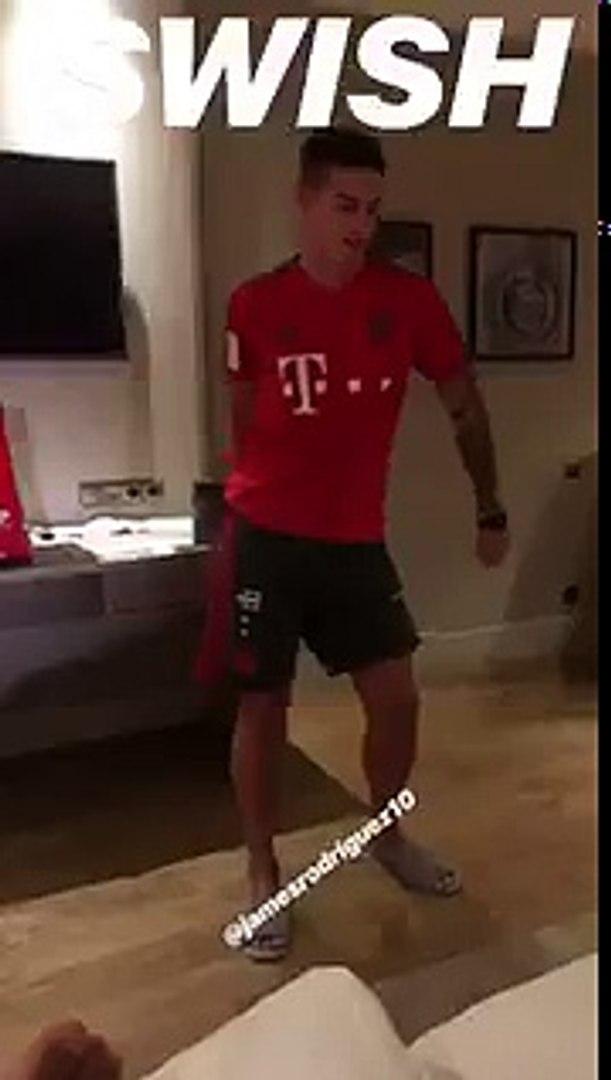 James bailando al estilo Swish